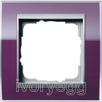 Cover frame, 1-gang frame  Colour Aluminium Gira Event Clear aubergine