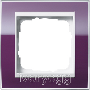 Cover frame, 1-gang for pure white Gira Event Clear aubergine