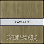 Hotel card button Inscription space System 55 bronze