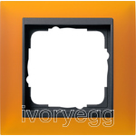 Cover frame, 1-gang for anthracite Gira Event Opaque amber