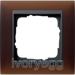 Cover frame, 1-gang for anthracite Gira Event Opaque Dark brown