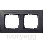 Cover frame, 2-gang for anthracite Gira Event Anthracite