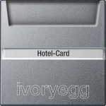 Hotel card button Inscription space System 55 Colour Aluminium