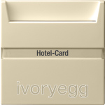 Hotel card button Inscription space System 55 cream white