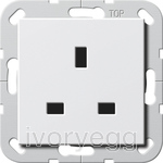 System 55 un-switched mains socket 13A in pure white
