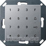 System 55 Keyless In Keypad, colour aluminium