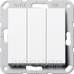 System 55 Rocker switch 2-way, 3-gang pure white