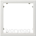 Adapter frame 45x45 square System 55 P.white m