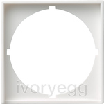 Adapter frame 50x50 round System 55 P.white m