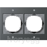 TX 44 (WP FM) Cover frame 2-gang, anthracite