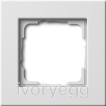 E22 Cover frame 1-gang, Pure White Glossy - British Standard