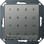 E22 Keyless In Keypad, colour Stainless Steel