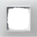 Cover frame, 1-gang for pure white Gira Event Opaque white