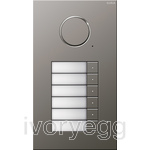 Stainless Steel Audio Door Station - 6 Call Buttons