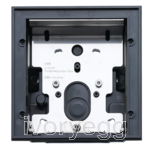Flush-mounted installation box, size 1/1 - anthracite matt
