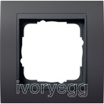 Cover frame, 1-gang for anthracite Gira Event Anthracite