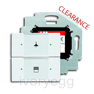 CLEARANCE ITEM - Control element 2 gang with bus coupler