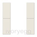 F50 LS range Cover kit 2-gang, ivory