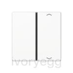 F40 A/AS range Cover kit 1-gang, with symbols, white