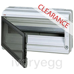 CLEARANCE ITEM - ABB IP65 Wall Mounting 18-Module Unit - Transparent Grey Door