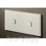 2 Button 2 Gang Select KNX Keypad Matt White RAL9010 with RGB LED and RTC