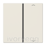 F40 LS range Cover kit 1-gang, with symbols, ivory