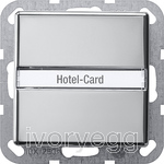 Hotel card button Inscription space System 55 chrome