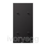 LS 1912 2-gang vertical centre plate with 4 cone toggle levers - dark aluminium
