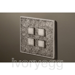 4 Button Select KNX Keypad Tin Antique with RGB LED and RTC