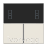F40 LS range Cover kit for RCD compact module, ivory