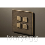 4 Button Select KNX Keypad Bronze Antique with RGB LED and RTC