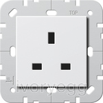 CLEARANCE ITEM - British Standard un-switched mains socket 13A in White