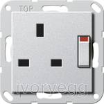 System 55 13A Switched Socket Colour Aluminium