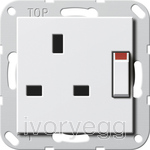 System 55 13A Switched Socket pure white