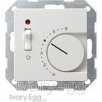 System 55 Room temperature Controller 230 V~ 230/10 (4) A~ with NC Contact and on/off switch with Control lamp, pure white