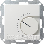System 55 Room temperature controller 230 V~ 230/10 (4) A~ with NC contact, pure white matt