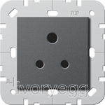 British Standard 5A Socket Outlet in anthracite