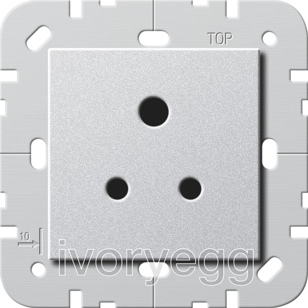 British Standard 5A Socket Outlet In Colour Aluminium Zoom F088bb68c4585fed2ff9ec03970eee307fd355241f33101dad7edd4f92b5fd6e
