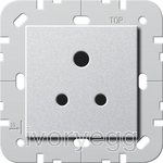 British Standard 5A Socket Outlet in Colour Aluminium