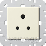 British Standard 5A Socket Outlet in cream white