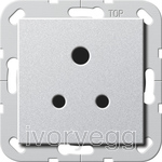 System 55 5A Socket Outlet in Colour Aluminium