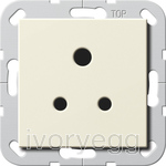 System 55 5A Socket Outlet in cream white