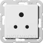 System 55 5A Socket Outlet in white glossy