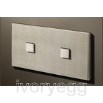 2 Button 2 Gang Select KNX Keypad Stainless Steel with RGB LED and RTC