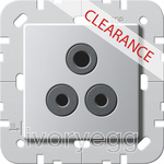 CLEARANCE ITEM - GIRA British Standard 5A Socket Outlet Aluminium