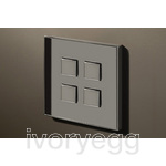 4 Button Select KNX Keypad Chrome with RGB LED and RTC