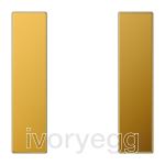 F50 LS range Cover kit 1-gang, gold plated