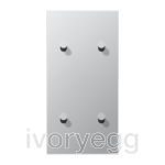 LS 1912 2-gang vertical centre plate with 4 cone toggle levers - aluminium