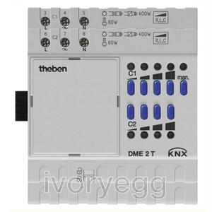 DME 2 T KNX  2 x 400W Dimmed channels - Extension