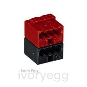 AK1 bus connectors (red / black)